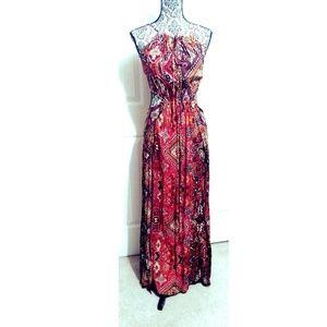 Chelsea & Violet Print Side Cut Out Maxi Dress